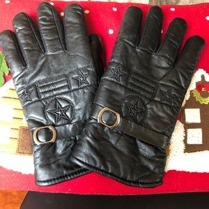 Accessories - Leather Glove with Stars Lg